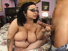 Nerdy Four Eyed Big Tit Hairy BBW Goth Rozzlynn