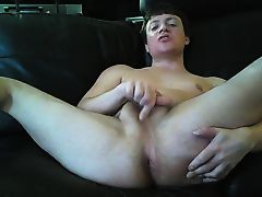 Cam Slut Jakey plays with his ass