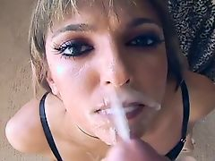 Gigantic CFNM blowjob facial #1