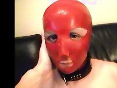 My wife latex mask