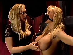 Blonde bound & gagged by mistress