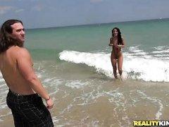 she shows of her skimpy bikini
