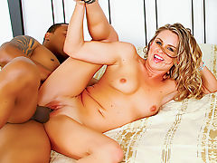 White wife pussy black man cock and facial