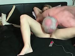 Horny mature couple in the action