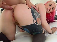 Asstraffic Tattoed slut Proxy Paige deepthroats a cock and