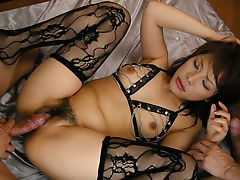 Lingerie beauty, Sara Nakamura, fucked in rough modes