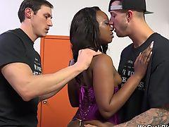 White boys buttfucking beautiful ebony babe Skyler Nicole