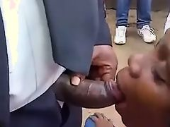 she sucked thick black dick in public