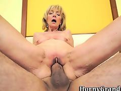 Blonde grandma pounded